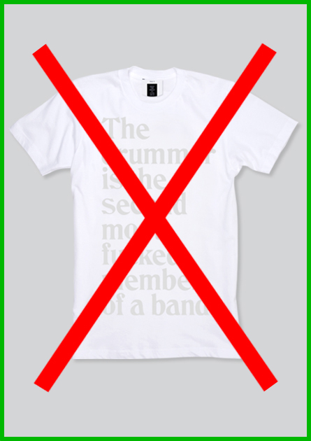 Main_27 drummer shirt white sold out